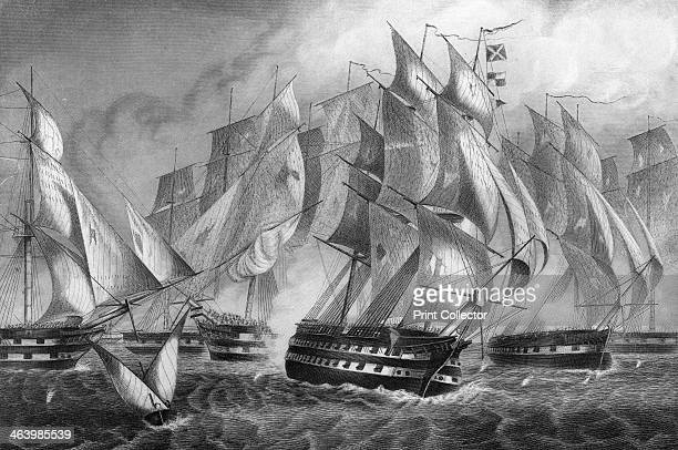 Sir Charles Napier's victory off Cape St Vincent, 5 July 1833 . Napier fought the battle while in the Portuguese service under Admiral de Ponza....