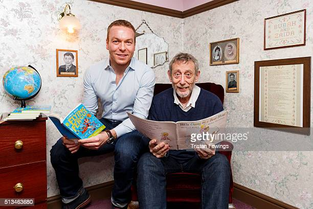 Sir Chris Hoy and Michael Rosen take part in World Book Day at Discover Childrens Story Centre on March 3 2016 in London England