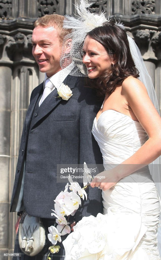 Sir Chris Hoy And Sarah Kemp Depart After Their Wedding At St Giles News Photo Getty Images