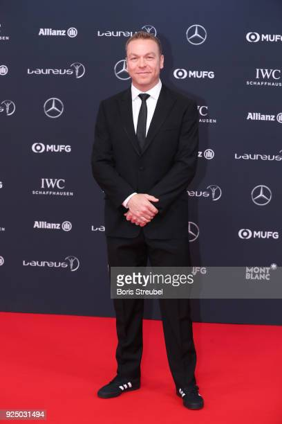 Sir Chris Hoy attends the 2018 Laureus World Sports Awards at Salle des Etoiles Sporting MonteCarlo on February 27 2018 in Monaco Monaco