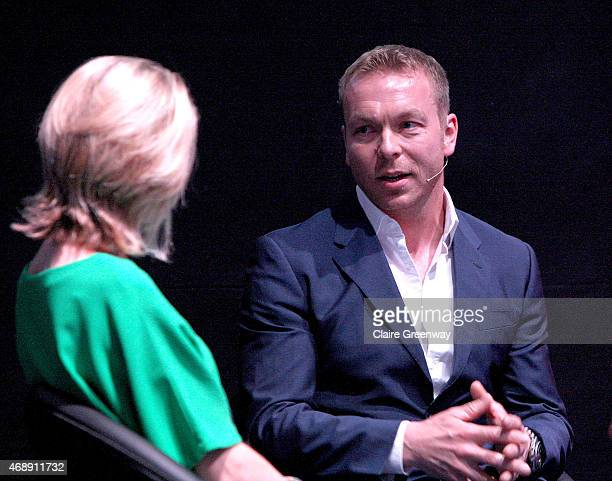 Sir Chris Hoy MBE speaks to BBC Sports Presenter Jacqui Oatley as she chairs a panel discussion at the Womenomics conference hosted by BNY Mellon and...