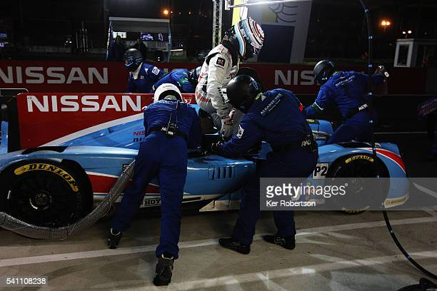 Sir Chris Hoy of Great Britain and Algarve Pro Racing prepares to drive during the Le Mans 24 Hour race at the Circuit de la Sarthe on June 19 2016...