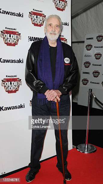 Sir Christopher Lee attends the Metal Hammer Golden Gods Awards 2010 at Indigo2 at O2 Arena on June 14 2010 in London England