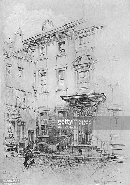 Sir Christopher Wrens house, Love Lane, circa 1902, . From The Pall Mall Magazine Volume XXXI, edited by George R. Halkett. [Editorial and Publishing...
