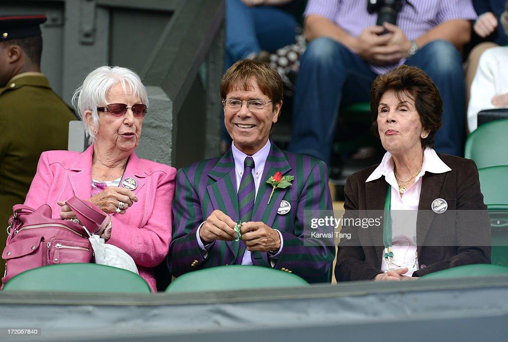 Celebrities Attend Wimbledon 2013 - Day 7