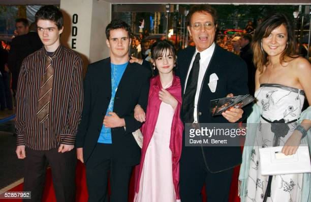 Sir Cliff Richard and Rachel Harrison attend UK Premiere of 'Star Wars Episode III Revenge Of The Sith' at Odeon Leicester Square on May 16 2005 in...