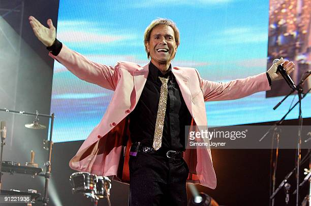 Sir Cliff Richard and The Shadows performs live on stage at the O2 Arena on September 28 2009 in London England