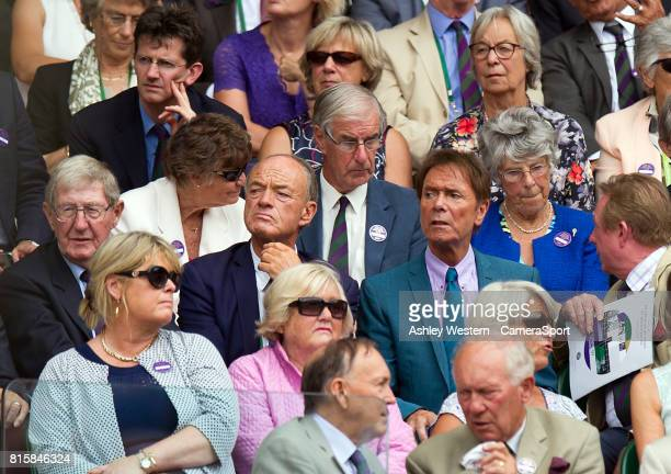 Sir Cliff Richard at Centre Court for the Gentlemen's Singles Final at Wimbledon on July 16 2017 in London England