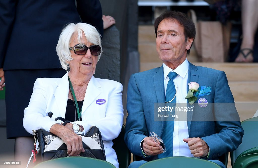 Sir Cliff Richard attends day one of the Wimbledon Tennis Championships at the All England Lawn Tennis and Croquet Club on July 2, 2018 in London, England.
