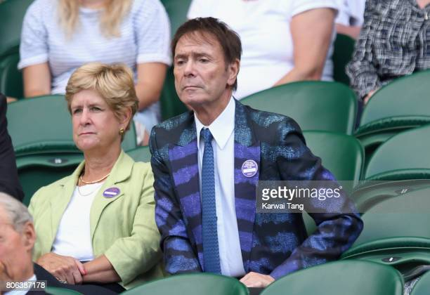 Sir Cliff Richard attends the opening day of Wimbledon 2017 on July 3 2017 in London England