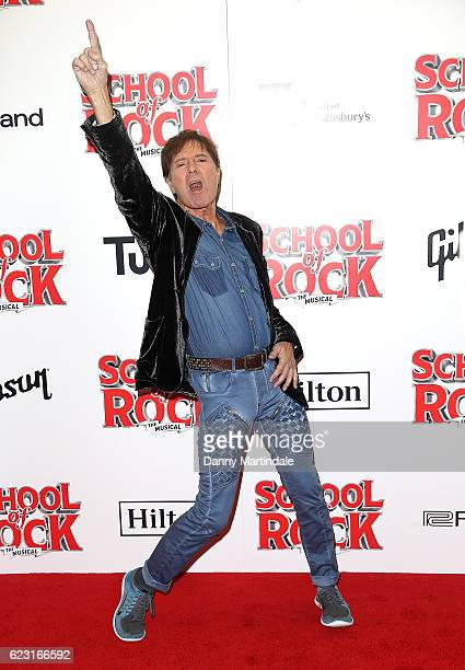 Sir Cliff Richard attends the opening night of 'School Of Rock The Musical' at The New London Theatre, Drury Lane on November 14, 2016 in London,...