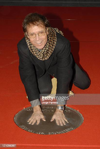 Sir Cliff Richard during Sir Cliff Richard Creates His Handprint on the Wembley Walk of Fame at Wembley Arena Pavilion in London Great Britain
