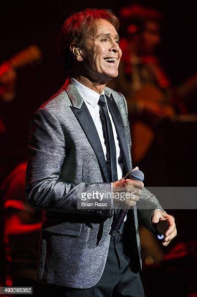 Sir Cliff Richard performs at Royal Albert Hall on October 18 2015 in London England