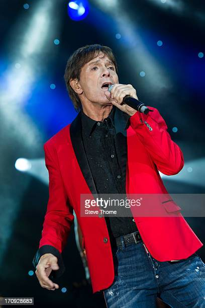 Sir Cliff Richard performs at Warwick Castle on June 8 2013 in Warwick England