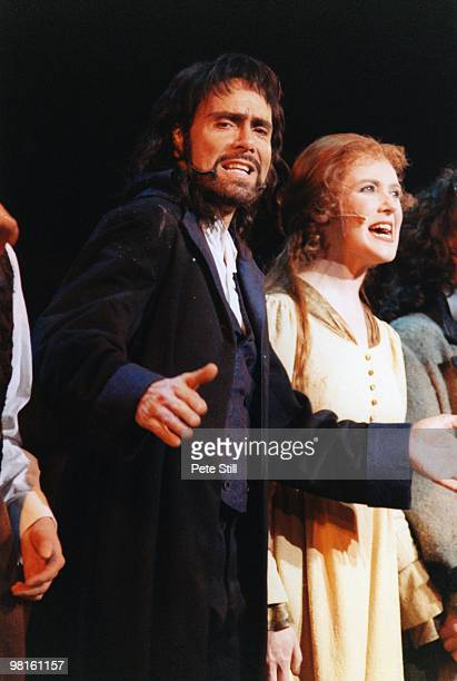 Sir Cliff Richard performs in the title role of the Musical 'Heathcliff' at The National Indoor Arena on December 12th 1996 in Birmingham England...