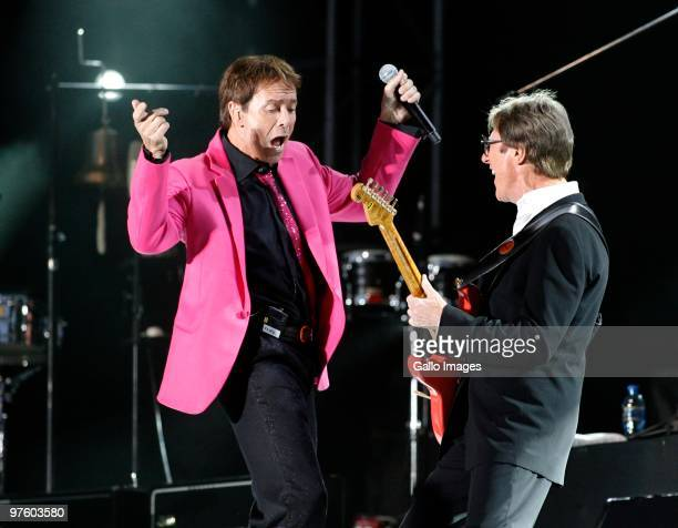 Sir Cliff Richard performs with Hank Marvin of The Shadows at Kirstenbosch Gardens to a sold out crowd on 9 March 2010 in Cape Town South Africa...