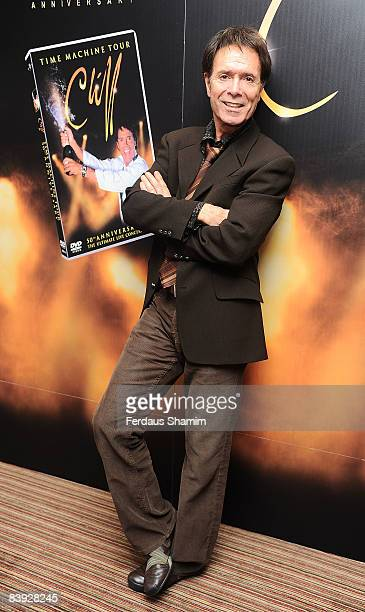 Sir Cliff Richard poses at the signing session of his Time Machine Tour DVD at Quo Vadis on December 5 2008 in London England