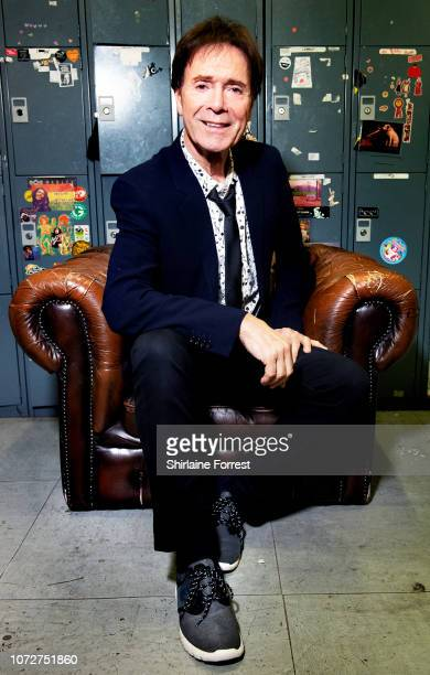 Sir Cliff Richard poses backstage after meeting fans and signing copies of his new DVD '60th Anniversary Concert' at HMV Manchester on November 26,...