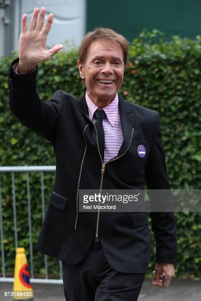 Sir Cliff Richard seen arriving at Day 9 of Wimbledon 2017 on July 12 2017 in London England