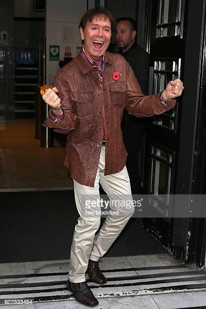 Sir Cliff Richard seen at BBC Radio 2 on November 11 2016 in London England