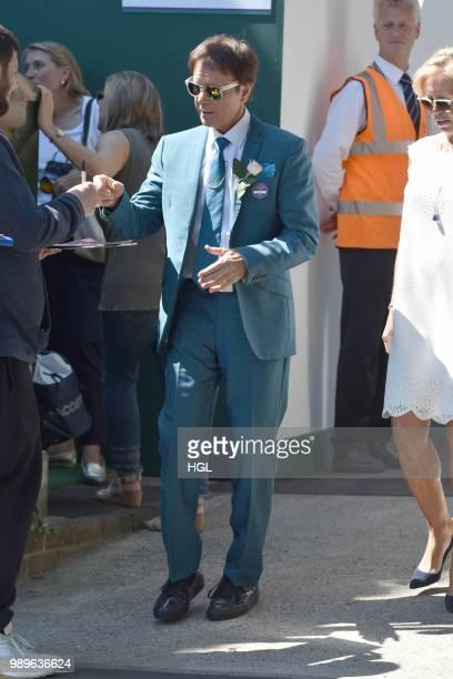 Sir Cliff Richard seen outside Wimbledon AELTC on July 2 2018 in London England