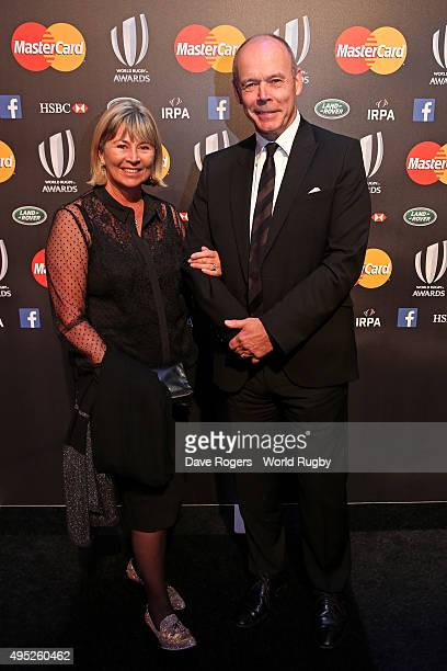 Sir Clive and Lady Jayne Woodward arrive during the World Rugby Awards 2015 at Battersea Evolution on November 1 2015 in London England
