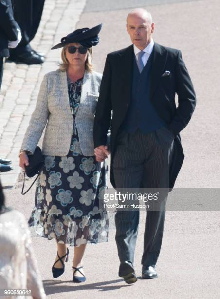 Sir Clive Woodward and Jayne Williams the wedding of Prince Harry to Ms Meghan Markle at St George's Chapel Windsor Castle on May 19 2018 in Windsor...