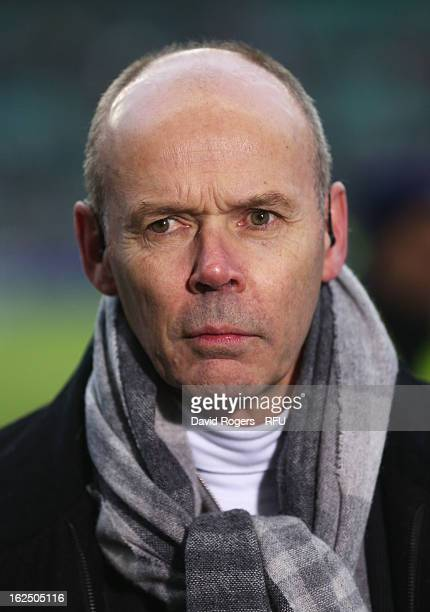 Sir Clive Woodward is pictured prior to the RBS Six Nations match between England and France at Twickenham Stadium on February 23 2013 in London...