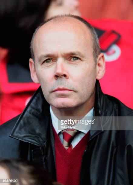 Sir Clive Woodward is seen in the crowd before the start of the CocaCola Championship match between Southampton and Burnley at St Mary's Stadium on...
