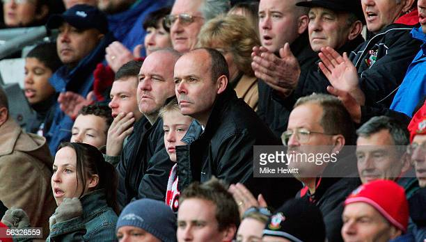 Sir Clive Woodward is seen in the crowd during the CocaCola Championship match between Southampton and Burnley at St Mary's Stadium on December 3...