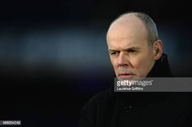 Sir Clive Woodward looks on prior to the RBS Six Nations match between Scotland and England at Murrayfield Stadium on February 8 2014 in Edinburgh...