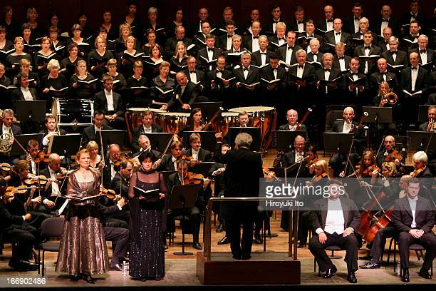 Sir Colin Davis conducting London Symphony Orchestra in Verdi's Requiem at Avery Fisher Hall on Wednesday night September 28 2005Soloists are from...