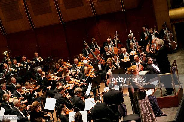 """Sir Colin Davis conducting London Symphony Orchestra in Verdi's """"Requiem"""" at Avery Fisher Hall on Wednesday night, September 28, 2005.This image;Anne..."""