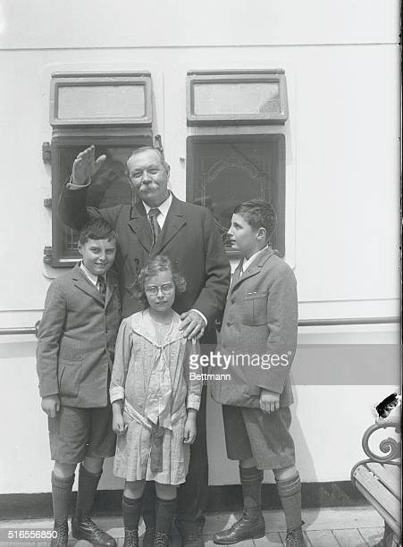 Sir Conan Doyle and his three children were among those sailing on the SSAdriatic The eminent author has spent some time in the United States and is...