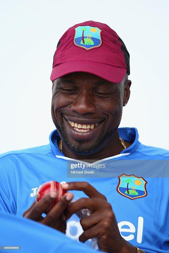 Sir Curtly Ambrose The Bowling Coach Of West Indies During Nets Session At