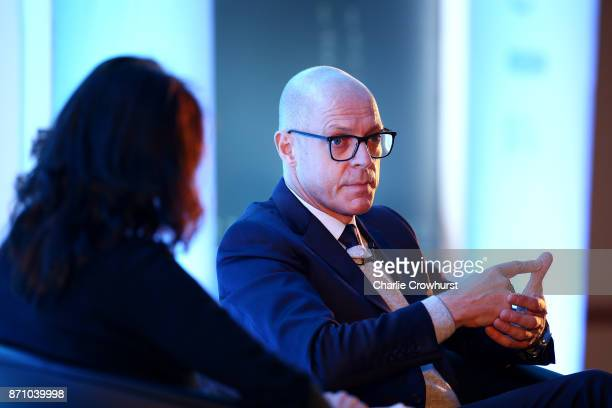 Sir Dave Brailsford of Team Sky gives a talk on day one of the 2017 Leaders Sport Performance Summit at The Oval on November 6 2017 in London England