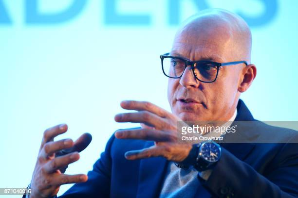 Sir Dave Brailsford of Team Sky gives a talk on day one of the 2017 Leaders Sport Performance Summit at The Oval on November 6, 2017 in London,...