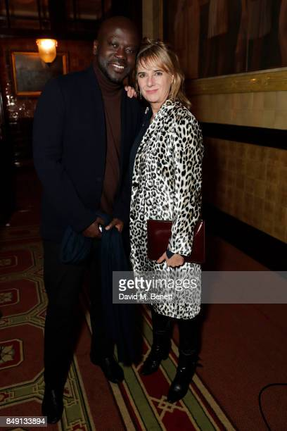 Sir David Adjaye and Amanda Levete CBE attend London Design Festival's British Land Celebration of Design Awards at Gladstone Library on September 18...