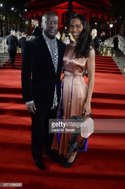 Sir David Adjaye and Ashley Adjaye arrive at The Fashion Awards 2018 in partnership with Swarovski at the Royal Albert Hall on December 10 2018 in...