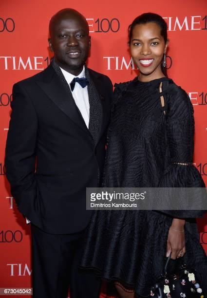 Sir David Adjaye and Ashley ShawScott attend the 2017 Time 100 Gala at Jazz at Lincoln Center on April 25 2017 in New York City