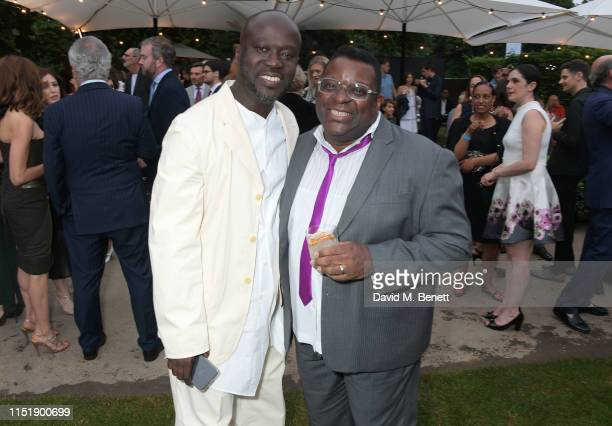 Sir David Adjaye and Isaac Julien attend The Summer Party 2019 presented by Serpentine Galleries Chanel and hosted by Michael R Bloomberg Hans Ulrich...