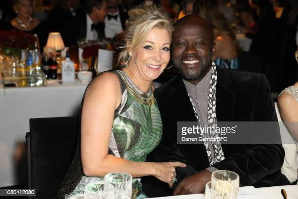 Sir David Adjaye and Nadja Swarovski during preceremony drinks at The Fashion Awards 2018 In Partnership With Swarovski at Royal Albert Hall on...