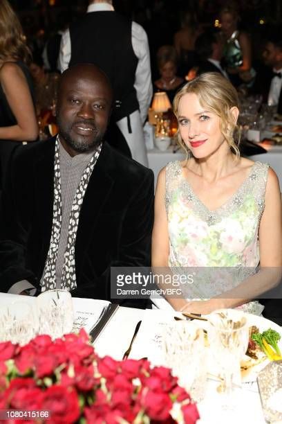 Sir David Adjaye and Naomi Watts during preceremony drinks at The Fashion Awards 2018 In Partnership With Swarovski at Royal Albert Hall on December...