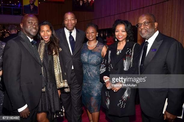 Sir David Adjaye Ashley ShawScott Jonathan Cropper Vanessa De Luca Denise BradleyTyson and Bernard Tyson attend the 2017 TIME 100 Gala at Jazz at...