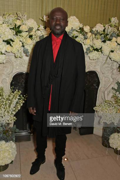 Sir David Adjaye attends the British Vogue and Tiffany Co Celebrate Fashion and Film Party at Annabel's on February 10 2019 in London England
