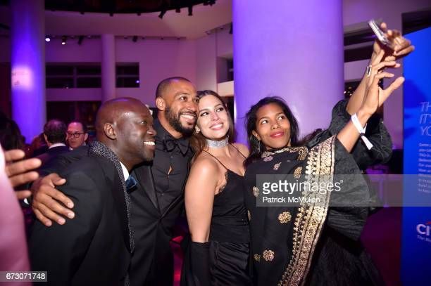 Sir David Adjaye Justin Ervin Ashley Graham and Ashley ShawScott attend the 2017 TIME 100 Gala at Jazz at Lincoln Center on April 25 2017 in New York...