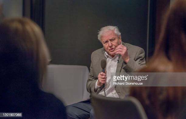 Sir David Attenborough addresses the UK Climate Assembly on January 25 2020 in Birmingham England The assembly members will give up four weekends...