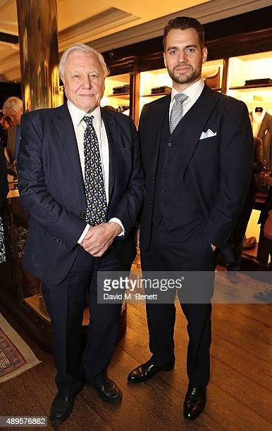 Sir David Attenborough and Henry Cavill attend The World Land Trust screening of The Orchids of Banos supported by Alfred Dunhill on September 22...