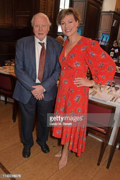 Sir David Attenborough and Kate Silverton attend the London Press Club Awards 2019 at Stationers' Hall on April 30 2019 in London England