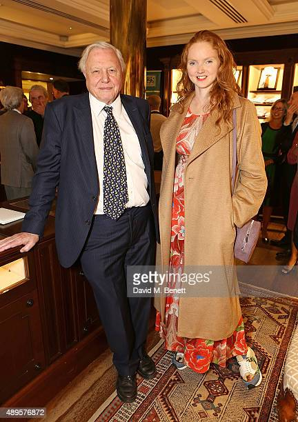 "Sir David Attenborough and Lily Cole attends The World Land Trust screening of ""The Orchids of Banos"" supported by Alfred Dunhill on September 22,..."